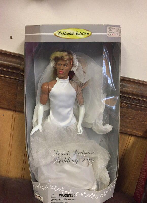 dennis rodman wedding dress barbie doll basketball