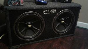 "Ported 12"" Kicker Speaker Box With 2 12"" Kicker Comp"