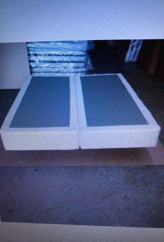 Queen or Full Split Box Spring, Metal Frame, or Wood Slat Bed Frames, will Deliver!