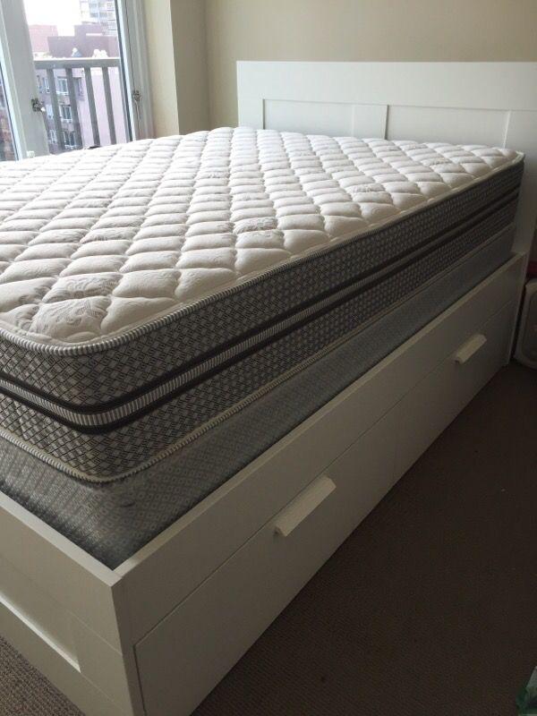 Ikea Brimnes Full Size Bed Set Furniture In Seattle Wa
