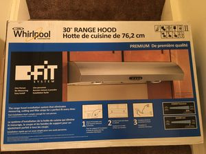 NEW Whirlpool 30 in. Range Hood with the FIT System in Stainless Steel