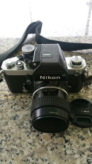 Nikon F2 with nikon lense in excellent condition.