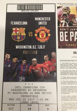 FC Barcelona vs Manchester United (Fed Ex Field)