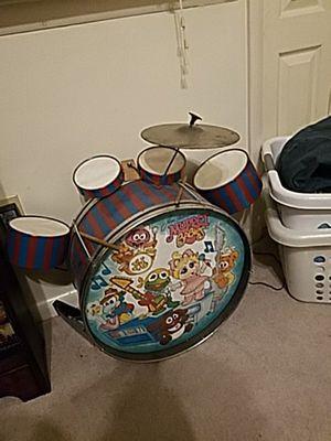 Muppet baby kids drum set