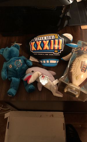 Super Bowl XXXIII (33) Collectibles Package Hosted in Miami, Florida! John Elway's Last Game for the Super Bowl Champion Denver Broncos!