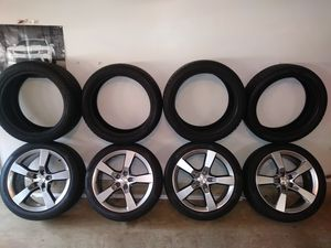 Wheels and tires. Midnight Silver Camaro wheels with P-Zero 245s and 275s . Also 4 new Pirelli Scorpion ice and snow tires.