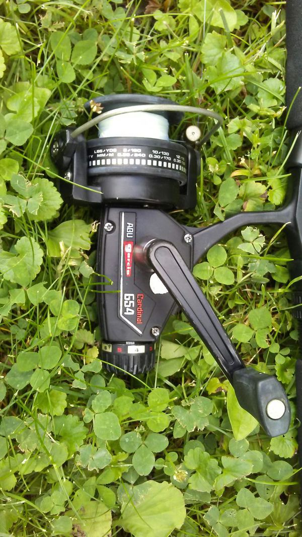 Abu garcia cardinal 654 spinning open reel with dawia for Buro 600 6ft ups