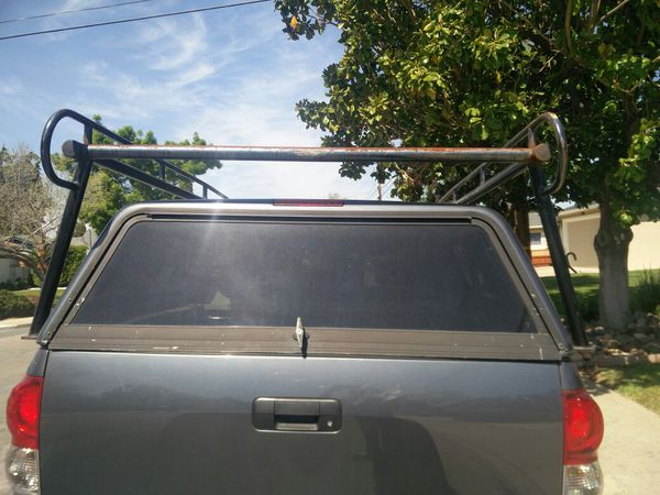 Lumber rack and camper shell for toyota tundra crew max short bed good