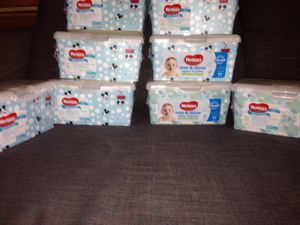 8 Boxes of Huggies Wipes. Please See All The Pictures and Read the description