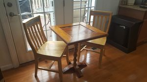 Checker Table and Chairs