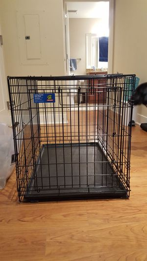 Top Paw Folding Double Door Crate