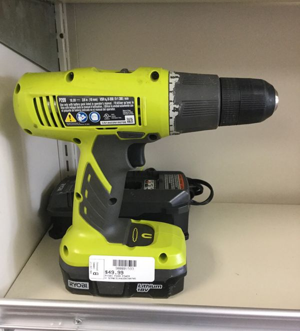 Ryobi P209 Cordless Drill 18v