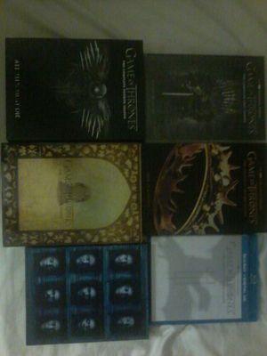 Game of thrones season 1 to 6 ......4season are dvd 2 season are bluray. .