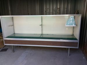 Display Case with Glass Shelves