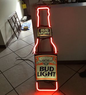 """Bud light 44"""" neon sign good condition works well"""