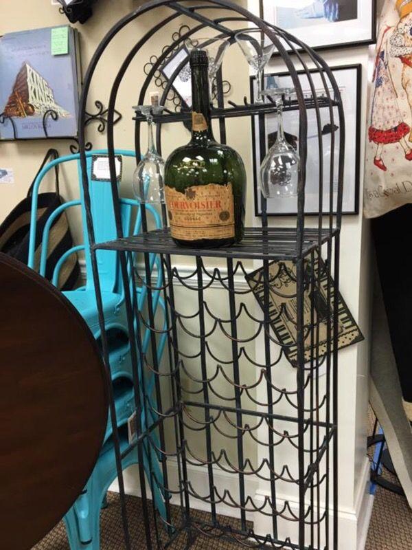 Iron wine rack (marked down)