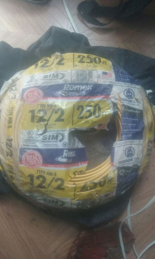 Romex indoor wire type NM-B 12/2 250 ft brand new (Electronics) in ...