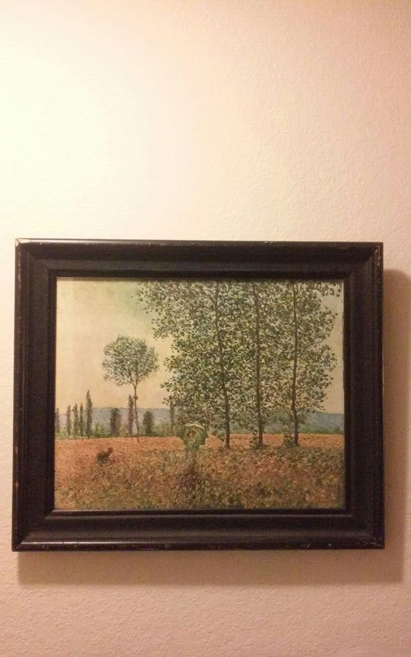 Vintage Monet Print in Frame 24\