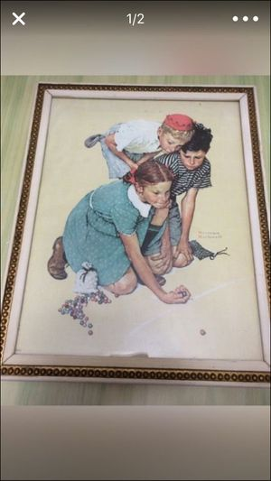 Authentic Norman Rockwell Original 1972 Canvas Photo