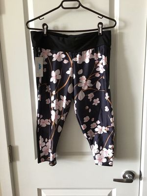 Cherry Blossom Athletic Capri Pants from Lotus Leggings, XXL