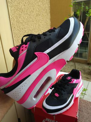 Nike Air Max BW Black/Pink Blast/White (size 7y) Womens size 9