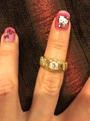 Unisex 18K Gold plated Engagement/Wedding Ring