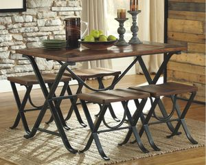 Ashley Rustic Industrial Dining Set