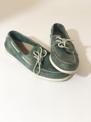 Size 11 G.H. Bass Green Boat Shoes