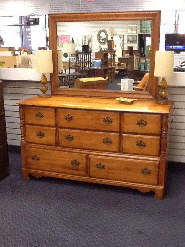 Ballman cummings vintage 8 dr dresser furniture in for Bedroom furniture 85225