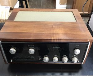 McIntosh C26 Solid State Stereo Preamplifier In Cabinet