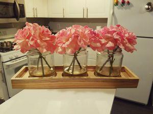 Pink flower decor