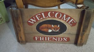 Picture pf welcome make in wood ,good condition