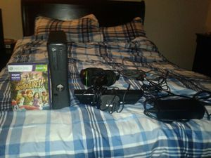 Xbox 360 with Kinect,controller charger,& game
