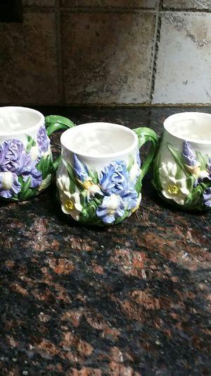 Nantucket Iris Coffee Mugs