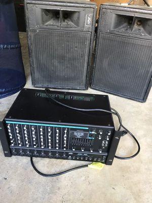 Peavey 680 Mixer + 2 peavey speakers