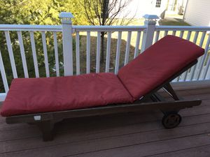 Outdoor furniture with cushion and wheels