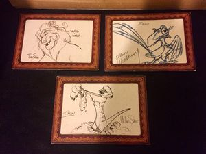 3 sketch by 3 famous Disney artist