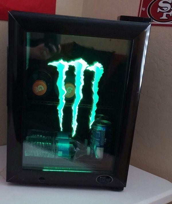 Monster Energy Drink G1 Led Mini Fridge Electronics In