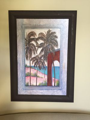 "Wood Framed Painting (43""L x 31"" W)"
