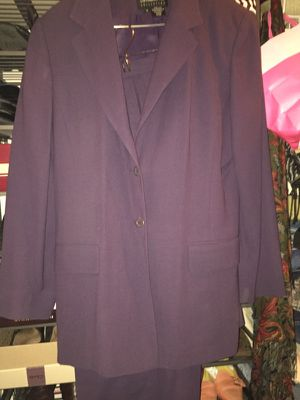 Ladies Designer Plum Pant Suit - Size 12