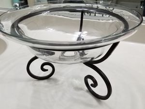 Pier One Decorative Glass Bowl with Bronze