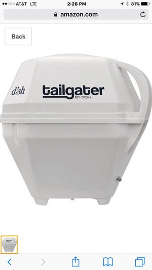 DISH TAILGATER PORTABLE AUTOMATIC ANTENNA + RECEIVER