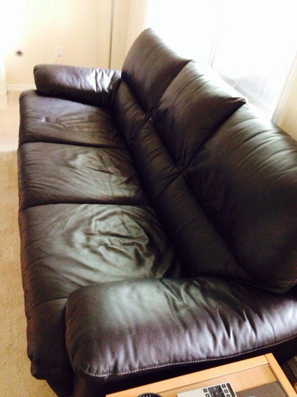 dania florence leather sofa furniture in lynnwood wa offerup