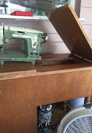 Antique hiding sewing machine