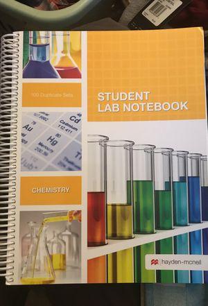 Student Lab Notebook (Chemistry)