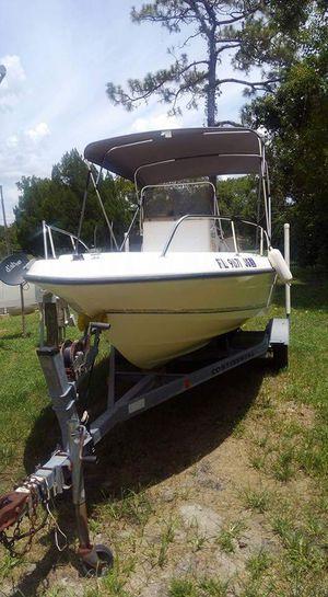 1996 Sunbird 18' center console boat (off shore)