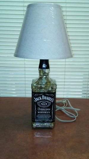 Whiskey and wine bottle lamps