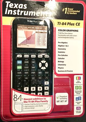 SEALED NEW! Texas Instruments TI-84 Plus CE Graphing Calculator