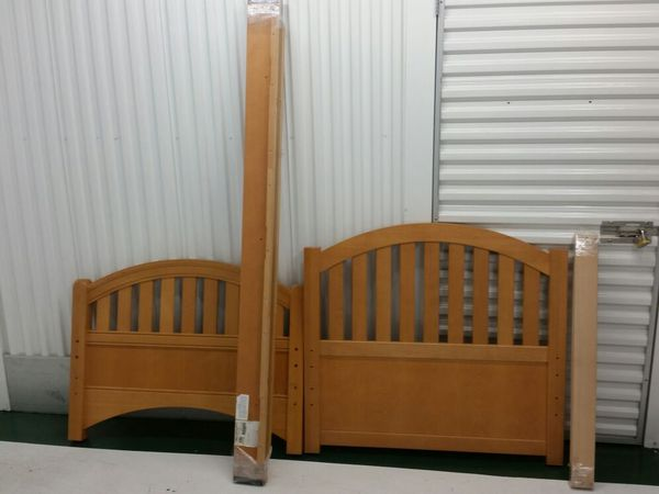 Twin Bed Frame Solid Birch Wood Furniture In Seattle Wa