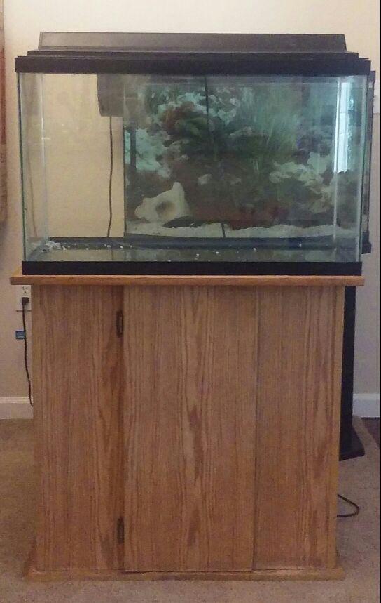 30 gallon aquarium stand light hood pet supplies in for 30 gallon fish tank kit